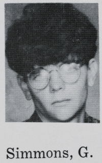 Greg Simmons  (from 1967 yearbook)